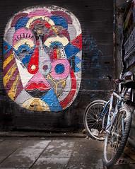 MADRID - Malasaa (alguno) Tags: madrid espaa color luz graffiti calle foto bicicleta tribunal malasaa