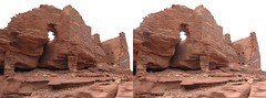 3D CrossView Pictures From The Desert Express (Redbeard Math Pirate) Tags: archaeology stereoscopic 3d crosseyed ruins stereo stereopair wupatki threedimensional wupatkinationalmonument crossview