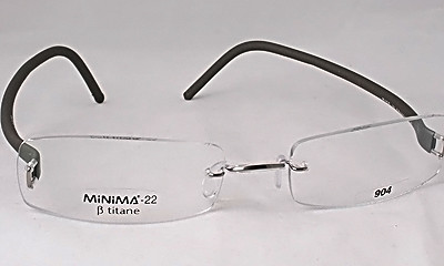Eyeglass Frames Hurt Ear : Titanium Grey Rimless Eyeglass Glasses Frame Rubber Ear eBay