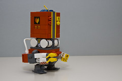 Fire-fighter mech (RG&B) Tags: square fire robot lego engine cube mecha mech moc lego hardsuit gilgamech
