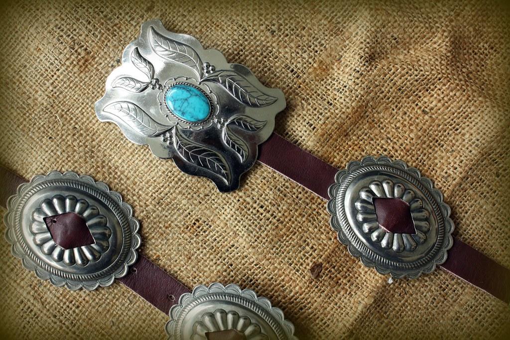 Turquoise Concho Belt