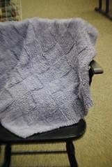 Learn-to-knit lap blanket (Bozeman Yarn Shop) Tags: spring bozeman samples demos classes yarnshop