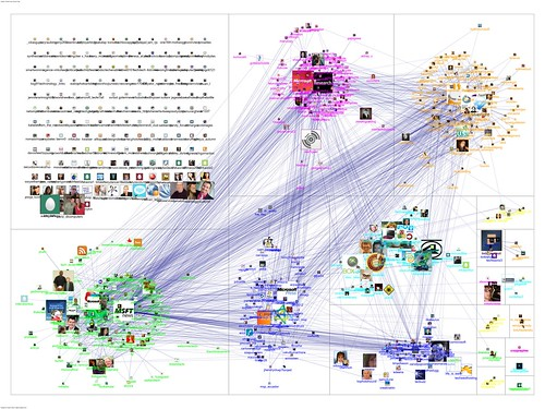20110313-NodeXL-Twitter-msrtf11 OR techfest group layout