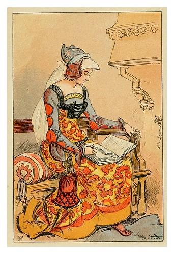 016-Castellana de mitad del siglo XV-Mesdames nos aieules dix siecles d'elegances 1800- Albert Robida