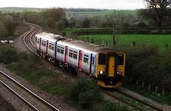 150232 DMU (michaelmoth) Tags: wales train diesel engine flyover gwent monmouthshire dmu bishton 150232 llandevenny