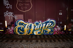 DAZE (daze tn) Tags: art train graffiti birmingham tn alabama spraypaint boxcar alphabet freight daze spraycan moist fuckthepolice nsa wisconsincentral rtm dazetn