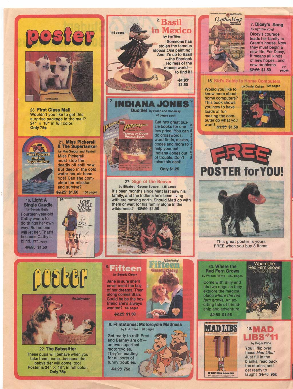 Holy crap! Vintage Book Club Flyers! | Branded in the 80s