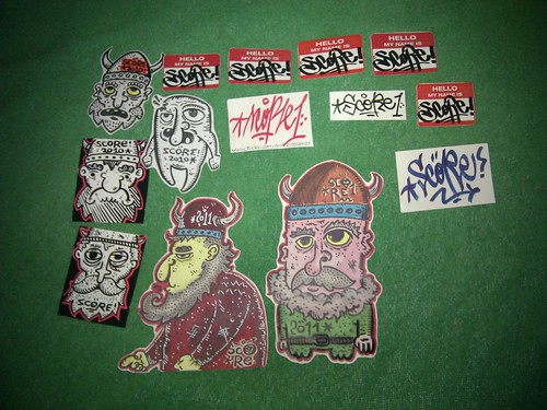 Viking stickers, from Romania