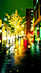 12418 - Night Scape #4 (sakura_chihaya+) Tags: night illumination vivid rainy osaka midosuji 2010   canonef1022mmf3545usm canoneos40d