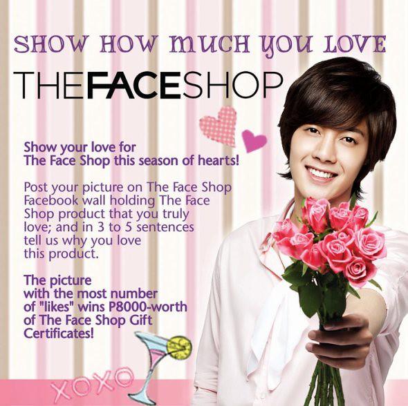 Kim Hyun Joong The Face Shop Valentine's Facebook Promo