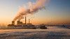 COLD POWER (Kevin Day) Tags: chimney sunrise dawn energy frost smoke slough powerstation tradingestate sloughtradingestate britwell gettyimagesuklocation