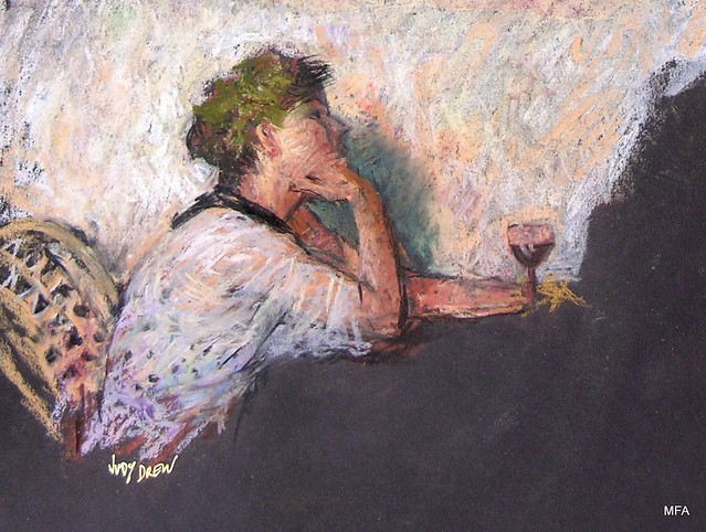 Judy Drew -A Quite Drink in a Paris cafe