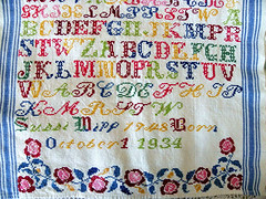 Hutterite Sampler (Marlis1) Tags: canada sampler embroidery collections alphabet saskatchewan hutterites crosstitch kreuzstich marlis1 musterpltz