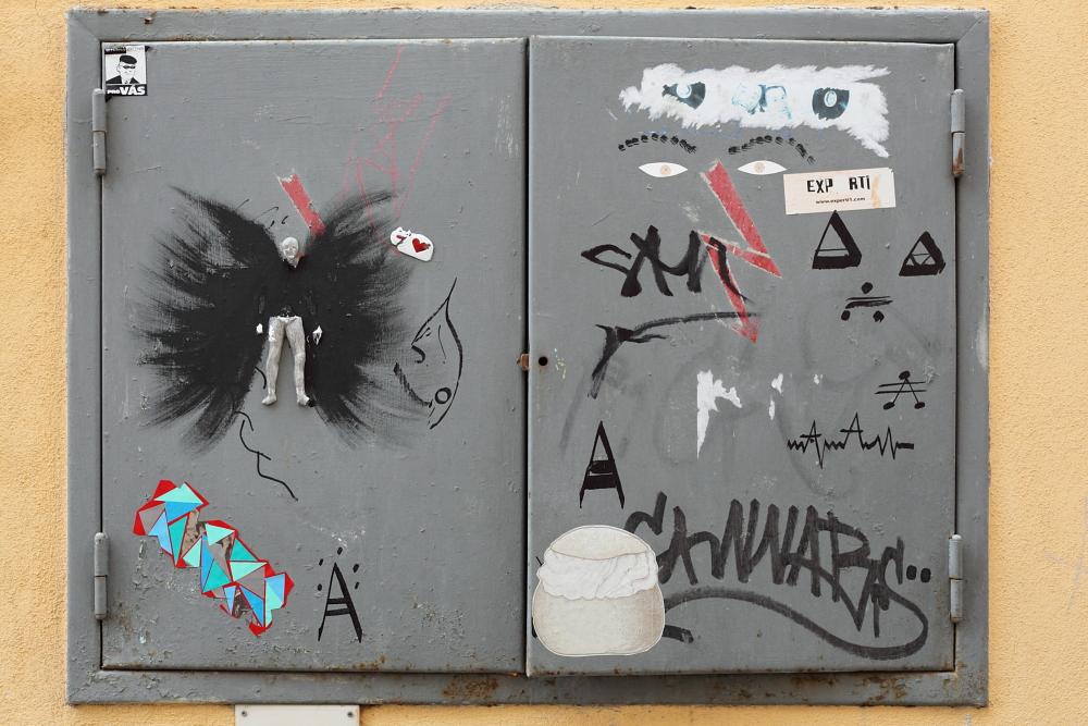 street art in Český Krumlov 5