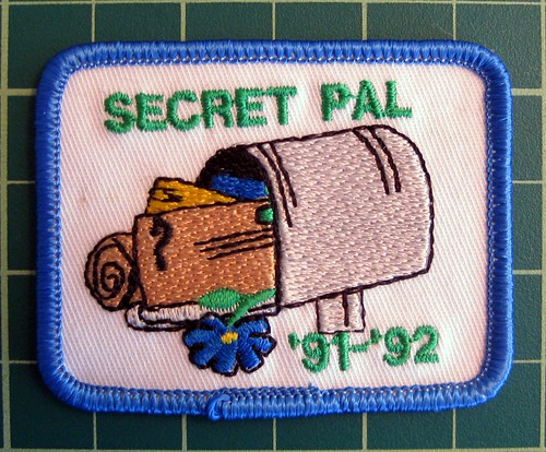 Mailbox secret pal vintage girl scout patch