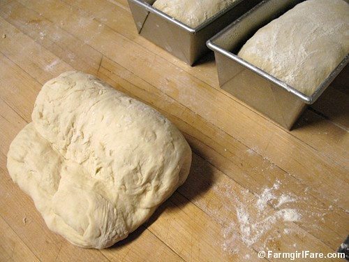 How to shape bread dough into sandwich loaves 2
