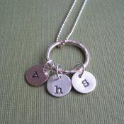 Tiny Initials- Personalized Hand Stamped Necklace
