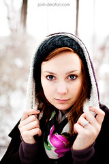 Snow Day 2 (Josh Deaton | www.josh-deaton.com) Tags: trees light snow colors girl beautiful forest 35mm canon outside eyes woods bokeh mark vibrant f14 gorgeous 14 ii 5d natual 35l