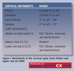 Movements of the cervical spine (from Palmer and Eppler 2nd ed 1998) (sportEX journals) Tags: neckinjury sportex sportsinjury sportexdynamics sportsrehabilitation rehabilitationwhiplash