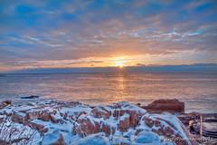 Sunrise Arcadia National Park (MyUglyPhotos.com) Tags: ocean travel winter clouds sunrise canon maine sunsets sunrises storms hdr highdynamicrange acadianationalpark thunderhole 2011 50d canon173528 mygearandme mygearandmebronze mygearandmesilver mygearandmegold mygearandmeplatinum cloudsstormssunsetssunrises myuglyphotos myuglyphotoscom