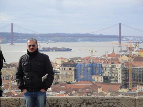 Lisbona, Io e la veduta dal castello
