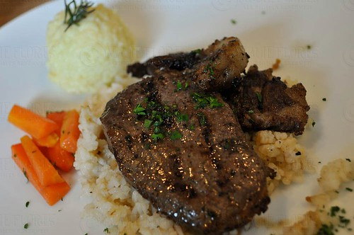 Rosemary and Garlic Rib-eye Steak