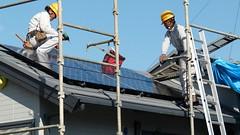 Solar PV panel and system installation (CoCreatr) Tags: green rooftop japan solar power panel installation yokohama  photovoltaic