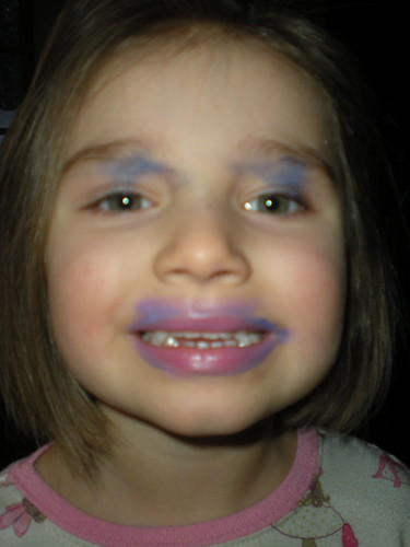 Mia did her own make-up