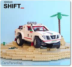 Nissan Navara Dakar Rally car