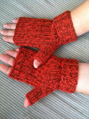 Yule Log Fingerless Mitts