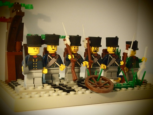 Custom minifig Prussians in the dawn