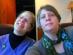 Marge and Me at the Board/Mgmt Retreat--Daily Image 2011--January 29 (Rochelle, just rochelle) Tags: friends selfportrait boards women libraries working colleagues librarians retreats rochellehartman lacrossepubliclibrary margelochwouters