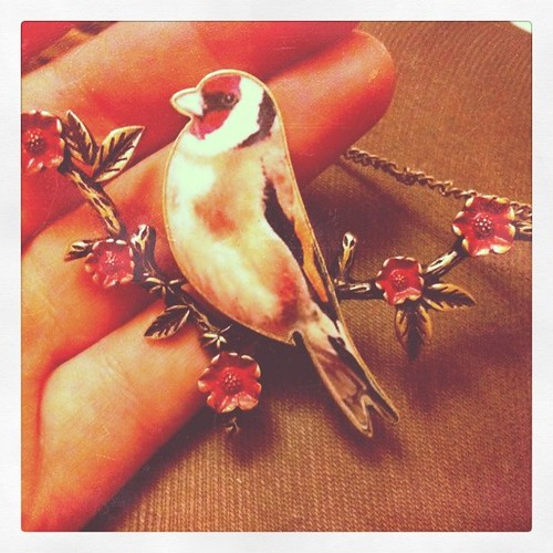 Topshop bird necklace.