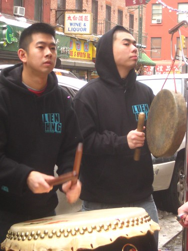drumming for the lions (and keeping an eye on them)