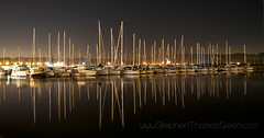 Dockside Harbour Chatham (stephen thomas green1) Tags: reflection water night boats kent harbour chatham dockside stmarysisland longexposior stephenthomasgreen docksidecentertas