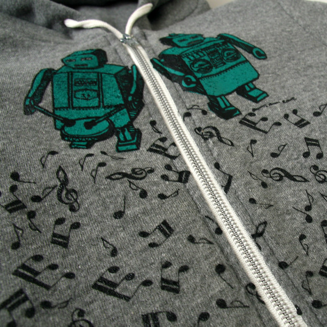Beat Bots - Earth-Friendly - By Karl Addison - 9590 Eco-Heather Zip Hood