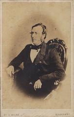 Mr William Davie, Ironmonger of Blairgowrie, nd (P&KC Archive) Tags: man scotland 19thcentury perthshire archive bowtie jacket blairgowrie ecsochistory historicaldocument