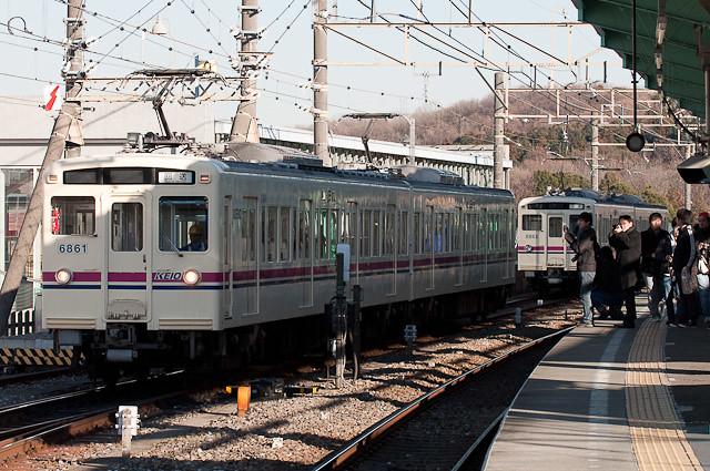 京王電鉄6000系2連 入換