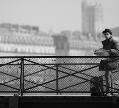 Strange Town (Beanotown Photography) Tags: travel bridge paris youth lost map tourist confused padlocks paulweller thejam