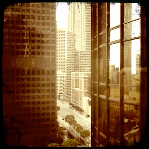 the view outside my window downtown LA