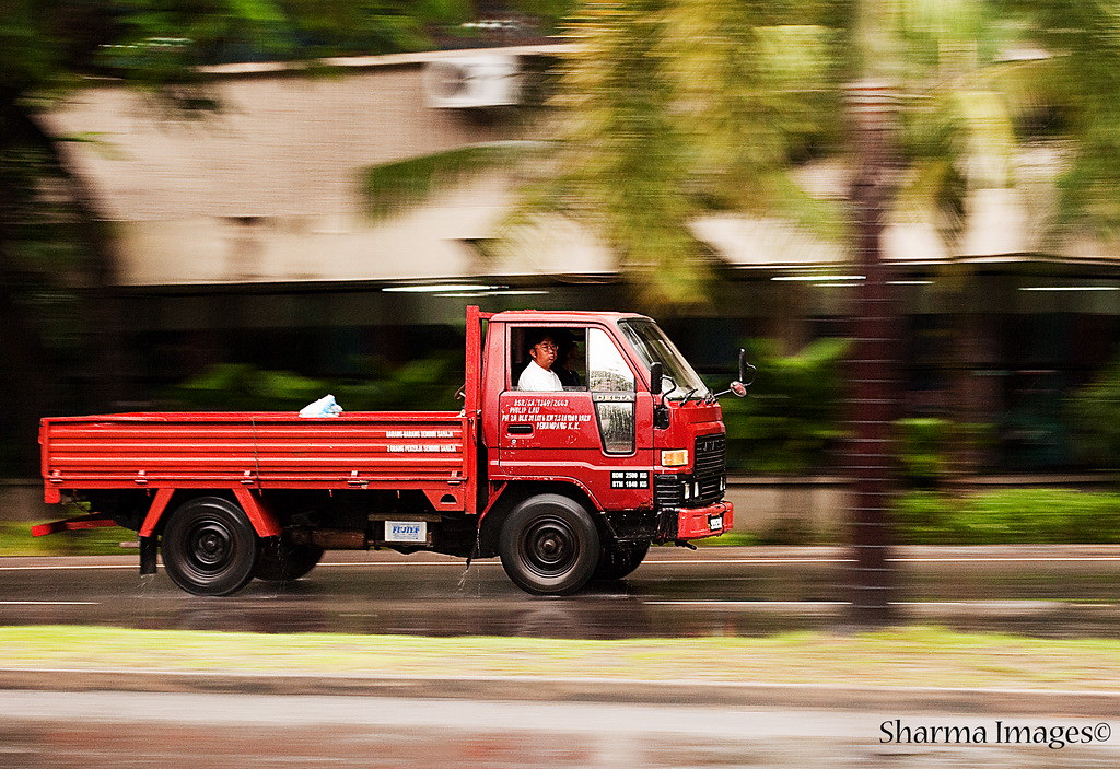 Lorry Panning Shot