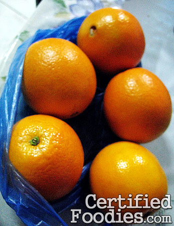 Sagada oranges we bought from sellers at Strawberry Farm - CertifiedFoodies.com