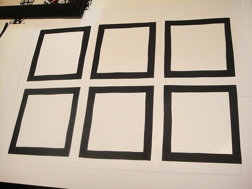 measured out frames for your artwork