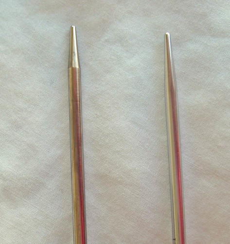 size US 2 knitting needles
