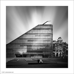 Urbis, Manchester (Ian Bramham) Tags: city blackandwhite bw glass reflections manchester photography photo nikon long exposure centre fineart exhibition nd filters urbis iansimpson d700 bwfineartphotography ianbramham 1635vr welcomeuk