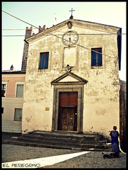 Calcata (El Peregrino) Tags: people italy dog church cane buildings persona italia village iglesia chiesa eglise edifici calcata villaggio yourcountry
