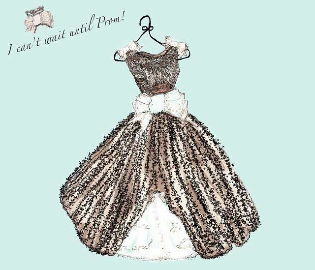 I can't wait for prom dress with text final