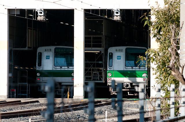 東京メトロ6000系 6115F 6102F 20110119