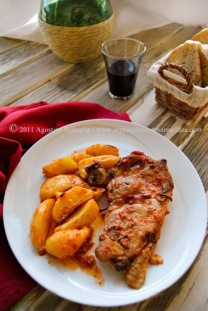 coste di maiale al forno con patate 2