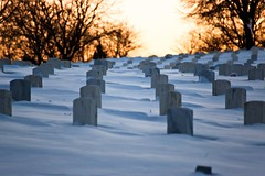 The Last Hill (Just Add Light) Tags: winter sunset snow cold ice wisconsin war military freezing graves explore va milwaukee m42 vivitar veterans 135mm gnas justaddlight wexplore vivitarauto
